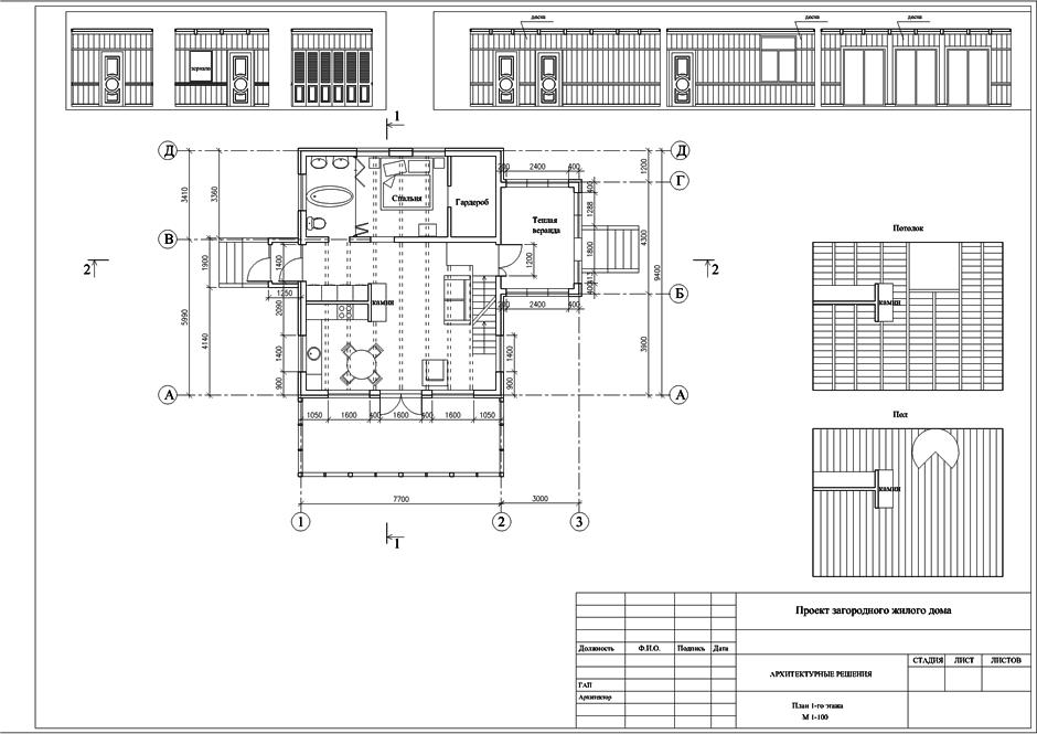 Интерьеры загородного дачного дома