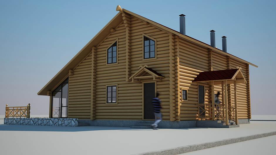 Проект гостевого дома-бани