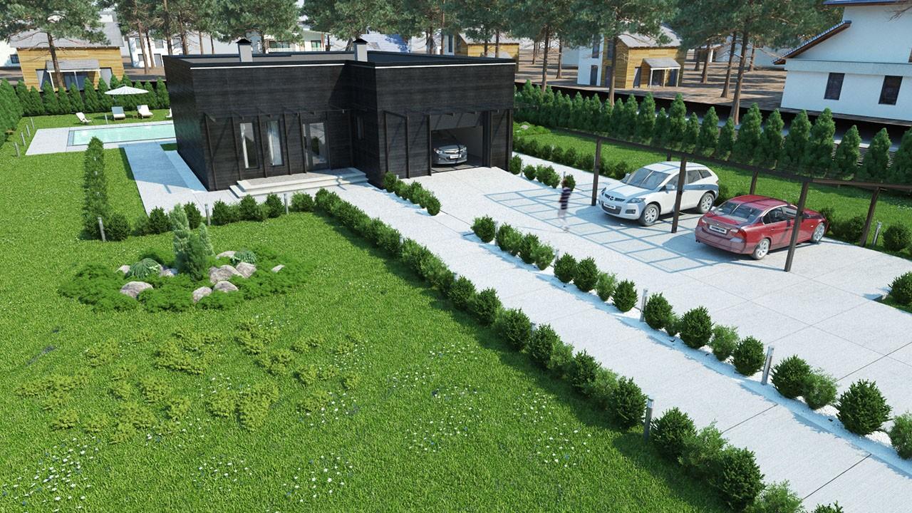 Проект индивидуального жилого дома из ЖБИ вариант 3