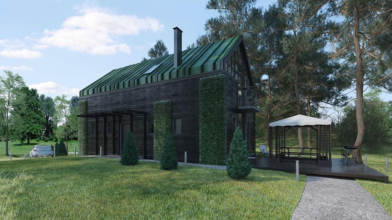 Проект индивидуального жилого дома из ЖБИ вариант 6