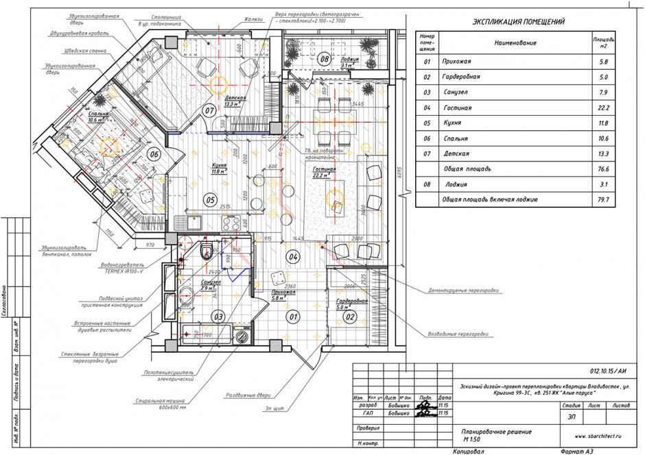 Перепланировка квартиры, процесс работы, 2 этап