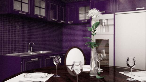 Дизайн квартиры «Фиолетовая»