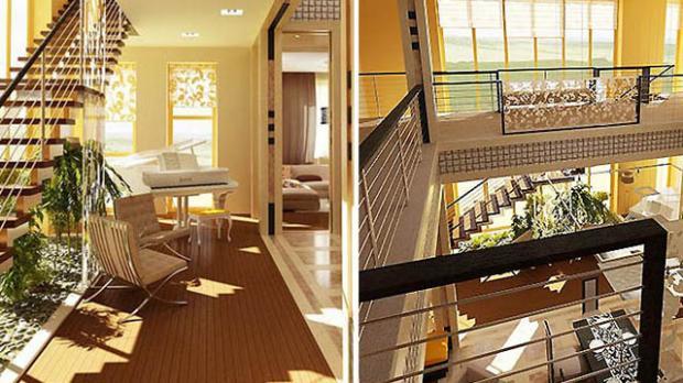 Дизайн проект интерьеров в доме «Лазурный берег»