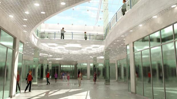 Эскизный проект общественной зоны ТЦ «Ладья»