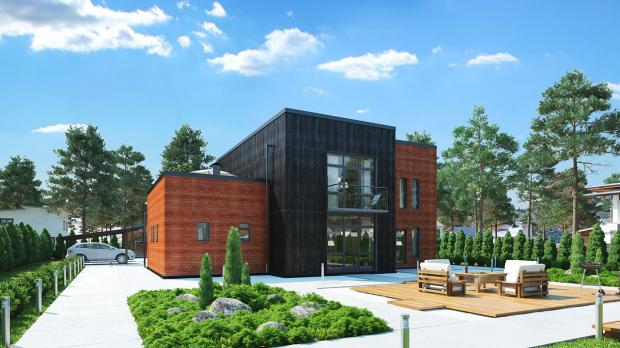 Проект индивидуального жилого дома из ЖБИ вариант 2