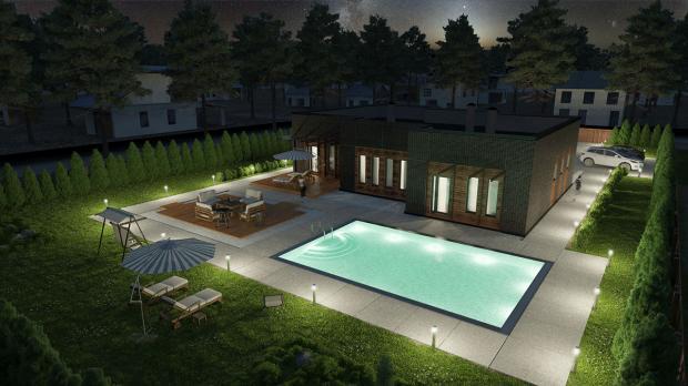 Проект индивидуального жилого дома из ЖБИ вариант 4