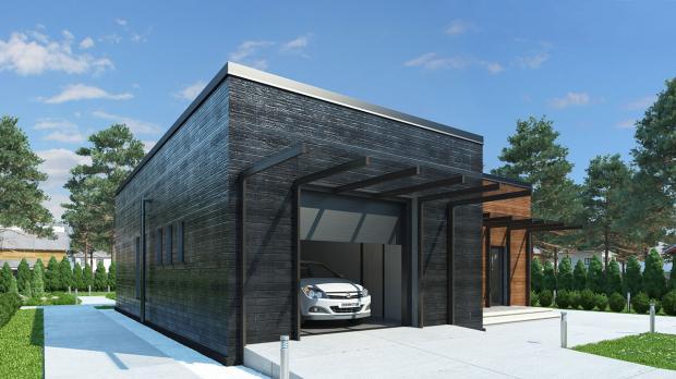 Проект индивидуального жилого дома из ЖБИ вариант 5
