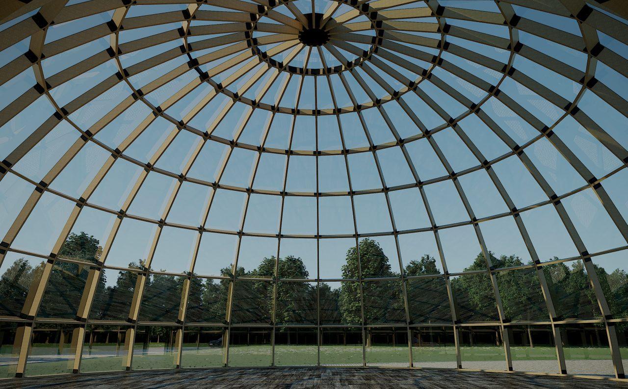 Проект каркаса и остекления ребристо-кольцевого купола